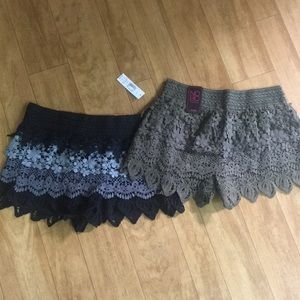 2 Pairs of Lace Shorts